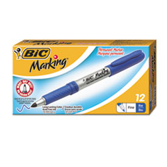 Marking Fine Tip Permanent Marker, Deep Sea Blue, Dozen