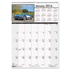 Classic Cars Monthly Wall Calendar, 12 x 16 1/2, 2016