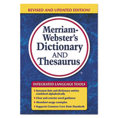 Merriam-Websters Dictionary and Thesaurus, 992 Pages