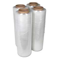 "Handwrap Stretch Film, 18"" x 2000ft Roll, 15mic (60-Gauge), 4/Carton"