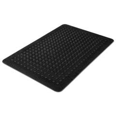 Flex Step Rubber Anti-Fatigue Mat, Polypropylene, 24 x 36, Black MLL24020300