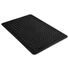 Flex Step Rubber Anti-Fatigue Mat, Polypropylene, 36 x 60, Black MLL24030500