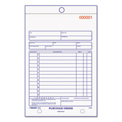 PURCHASE ORDER BOOK, 5-1/2 X 7-7/8 BOTTOM PUNCH, THREE-PART CARBONLESS, 50 FORMS