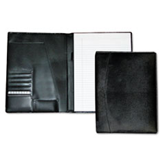 Mens Classic Pad Folio/Writing Pad, 8 1/2 x 11, Black, Each