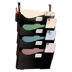 Grande Central Cubicle Filing System, Four Pockets, 16 5/8 x 5 x 27 1/2, Black