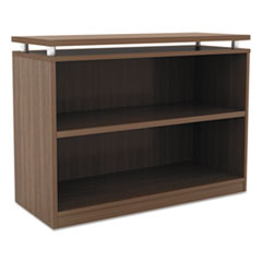 Alera Sedina Series Bookcase, Two-Shelf, 36w x 15d x 30h, Modern Walnut
