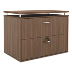 Alera Sedina Series Two Drawer Lateral File,34 1/4w x 22d x 29 1/2h, Mod Walnut