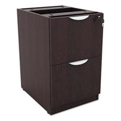Alera Valencia File/File Drawer Full Ped, 15 5/8 x 20 1/2 x 28 1/2, Espresso