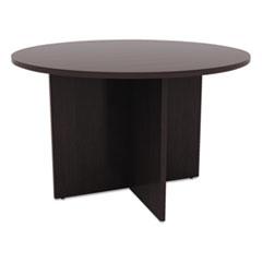 Valencia Round Conference Table w/Legs, 29 1/2h x 42 dia., Espresso
