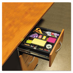 Recycled Plastic Desk Drawer Organizer Tray, Plastic, Black