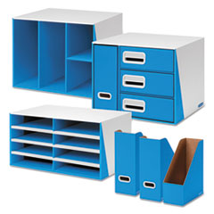 Premier Desktop Organization Kit, Six-Pieces, White/Blue
