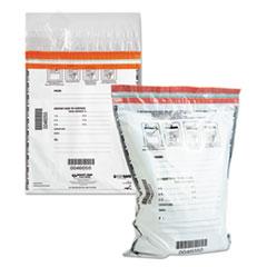 Tamper-Evident Deposit Bags, 9 x 12, White, 100 per Pack