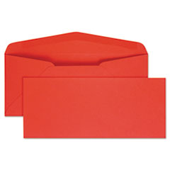 Colored Envelope, #10, 4 1/8 x 9 1/2, Red, 25/Pack