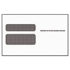 Double Window Tax Form Envelope, Continuous W-2, 5 5/8 x 9 1/2, 24/Pack