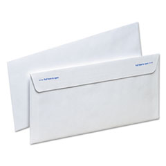 Gold Fibre Fastrip Security Envelope, #10, 4 1/8 x 9 1/2, White, 100/Box