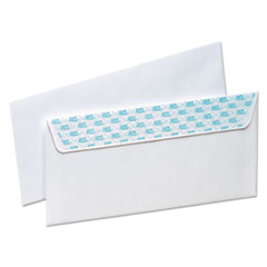 SafeSeal Security Envelope, Self Adhesive, #10, 4 1/8 x 9 1/2, White, 100/Box