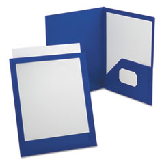 ViewFolio Polypropylene Portfolio, 50-Sheet Capacity, Blue/Clear