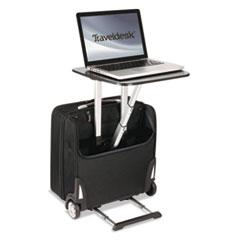 Traveldesk Mobile Work Station, Polyester, 10 3/4 x 18 1/2 x 17 1/4, Black