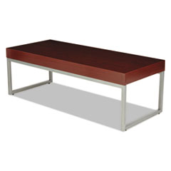 Occasional Coffee Table, 47 1/4w x 20d x 16h, Mahogany/Silver
