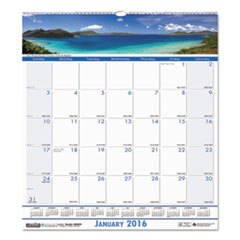 Coastlines Monthly Wall Calendar, 12 x 12, 2016