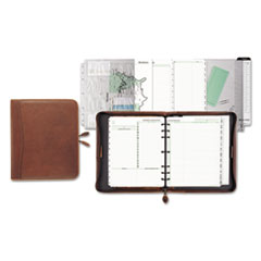 Aviator Distressed Leather Starter Set, 8 1/2 x 11, Dark Tan