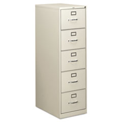 310 Series Five-Drawer, Full-Suspension File, Legal, 26-1/2d, Light Gray