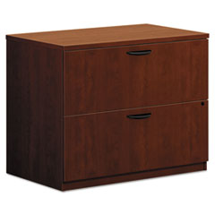 BL Laminate Two Drawer Lateral File, 35 1/2w x 22d x 29h, Medium Cherry