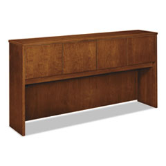 Wood Veneer Hutch With Wood Doors, 72w x 14-5/8d x 37-1/8h, Bourbon Cherry
