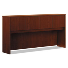 Laminate Hutch With Four Doors, 72w x 14 5/8d x 37 1/8h, Medium Cherry