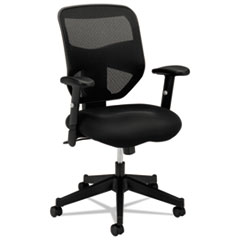 VL531 Series High-Back Work Chair, Mesh Back, Padded Mesh Seat, Black