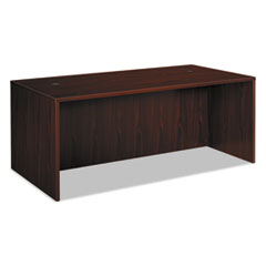 BL Laminate Series Rectangular Desk Shell, 72w x 36w x 29h, Mahogany