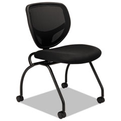 VL302 Series Mesh Back Nesting Chair, Black, 2/Carton