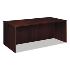 BW Veneer Series Rectangular Desk Shell, 72w x 36w x 29h, Mahogany