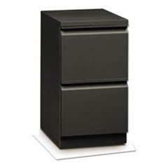 Flagship Mobile File/File Pedestal, Full Radius Pull, 19-7/8d, Charcoal