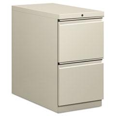 Flagship Mobile File/File Pedestal, Full Radius Pull, 28-7/8d, Light Gray