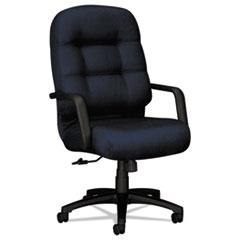 2090 Pillow-Soft Series Executive High-Back Swivel/Tilt Chair, Mariner/Black