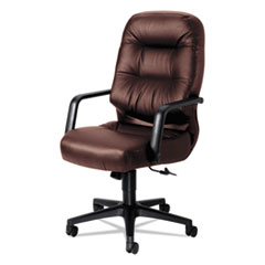 2090 Pillow-Soft Series Executive Leather High-Back Swivel/Tilt Chair, Burgundy