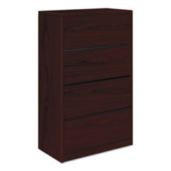 10500 Series Four-Drawer Lateral File, 36w x 20d x 59-1/8h, Mahogany