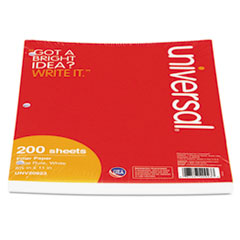 Mediumweight 16-lb. Filler Paper, 8 1/2 x 11, Wide Rule, White, 200 Sheets/PK