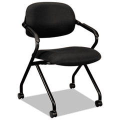 VL303 Series Nesting Arm Chair, Black/Black