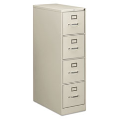 210 Series Four-Drawer, Full-Suspension File, Letter, 28-1/2d, Light Gray