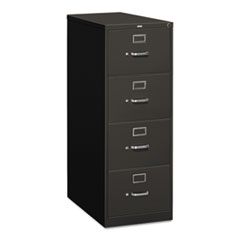 310 Series Four-Drawer, Full-Suspension File, Legal, 26-1/2d, Charcoal