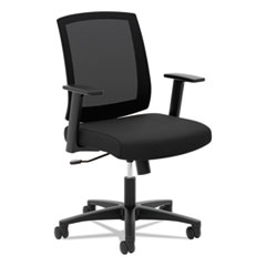VL511 Mesh Mid-Back Task Chair with Arms, Black