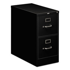 210 Series Two-Drawer, Full-Suspension File, Letter, 28-1/2d, Black