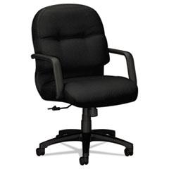 2090 Pillow-Soft Series Managerial Mid-Back Swivel/Tilt Chair, Black/Black