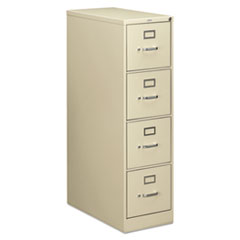 210 Series Four-Drawer, Full-Suspension File, Letter, 28-1/2d, Putty