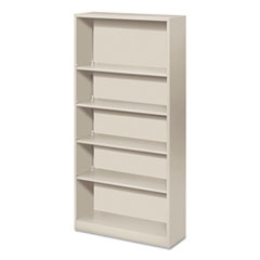 HON METAL BOOKCASE, 5 SHELVES, 34-1/2W X 12-5/8D X 71H,