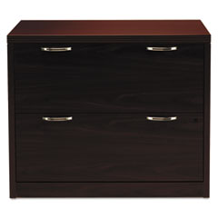 Valido 11500 Series Two-Drawer Lateral File, 36w x 20d x 29 1/2h, Mahogany