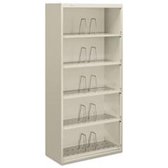 600 Series Jumbo Steel Open File, Five-Shelf, 36w x 16-3/4d x 75-7/8h, Gray