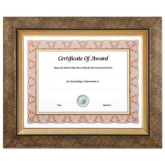 Executive Series Document and Photo Frame, 8 1/2 x 11, Gold Frame